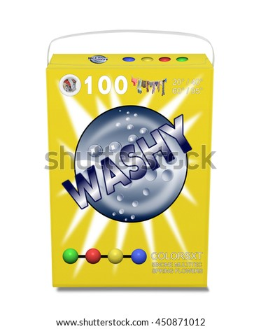 Washing powder detergent package