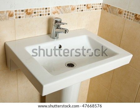 washing sink - stock photo