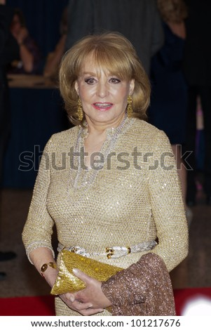 WASHINGTON - APRIL 28: Barbara Walters  arrives at the White House Correspondents Dinner April 28, 2012 in Washington, D.C.