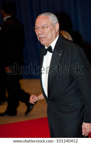WASHINGTON � APRIL 28: Colin Powell arrives at the White House Correspondents� Dinner April 28, 2012 in Washington, D.C.
