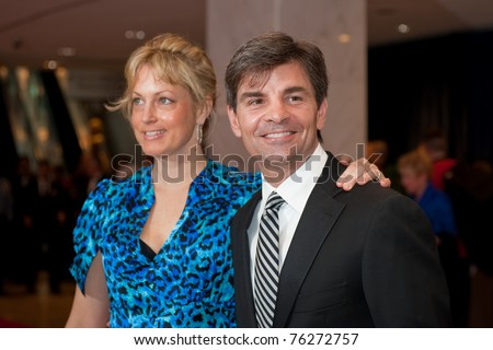 WASHINGTON - APRIL 30: George Stephanopoulos and Ali Wentworth arrive at the White House Correspondents Dinner April 30, 2011 in Washington, D.C. - stock photo