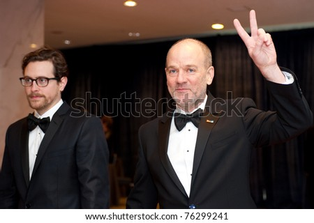 WASHINGTON - APRIL 30: Michael Stipe arrives at the White House Correspondents Dinner April 30, 2011 in Washington, D.C.