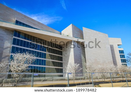 WASHINGTON - APRIL 10: the National Gallery of Art pictured on April 10, 2014, in Washington DC. Established in 1937, it is one of the largest Art museum in USA. - stock photo