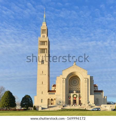 Washington D.C. - Basilica of the National Shrine Catholic Church  - stock photo