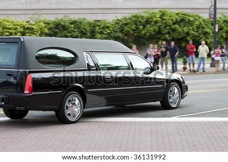 WASHINGTON, DC - AUGUST 29: Funeral Procession for Massachusetts Senator Ted Kennedy August 29, 2009 in Washington, DC. - stock photo