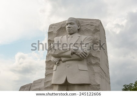 WASHINGTON, DC - AUGUST 20: Memorial to Dr. Martin Luther King on August 20, 2012. The memorial is America's 395th national park. - stock photo