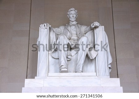 Washington DC, capital city of the United States. Abraham Lincoln memorial. - stock photo