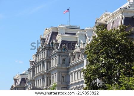 Washington DC, capital city of the United States. Eisenhower Executive Office Building. - stock photo