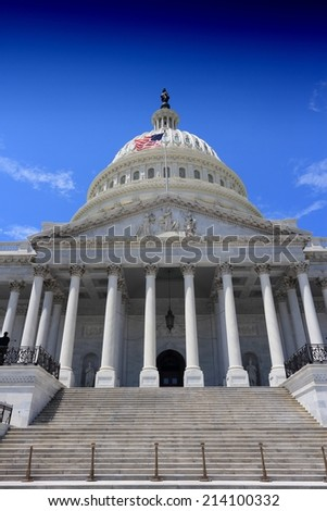 Washington DC, capital city of the United States. National Capitol building. - stock photo