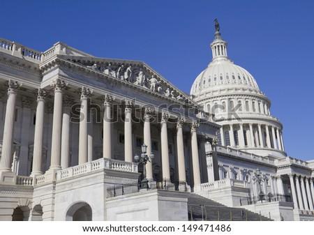 Washington DC , Capitol Building - detail, US - stock photo