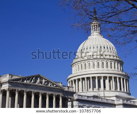 Washington DC , Capitol  - detail, US - stock photo