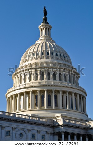 Washington DC Capitol of the United States of America - stock photo