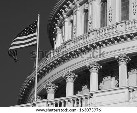 Washington DC , Capitol, US, b&w - stock photo