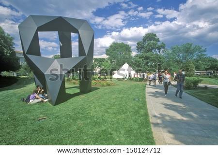 WASHINGTON DC - CIRCA 1990'S: National Gallery of Art Sculpture Garden, Washington, DC - stock photo