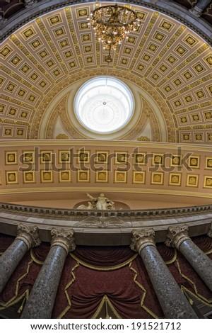 Washington DC internal capitol dome view - stock photo