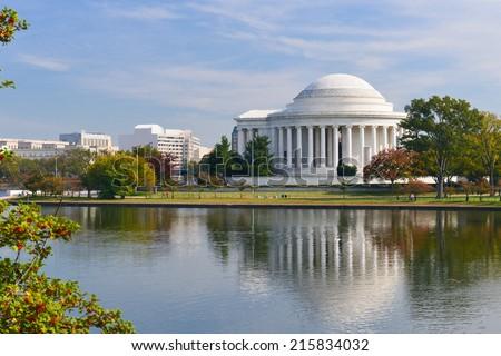 Washington DC - Jefferson Memorial in Autumn -  United States of America  - stock photo