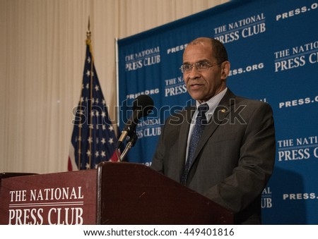WASHINGTON, DC - June 30, 2016. Christopher Hart, Chairman of the National Transportation Safety Board (NTSB) speaks on autonomous vehicles at a National Press Club luncheon.