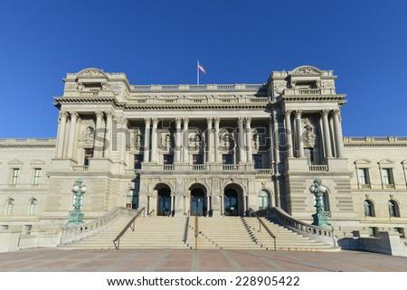 Washington DC - Library of Congress building - stock photo