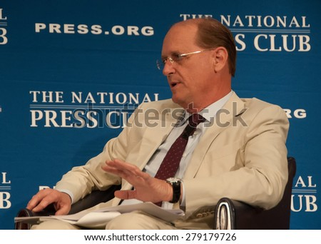 Washington, DC - May 15, 2015: Richard Anderson, chief executive of Delta Airlines speaks at the National Press Club - stock photo
