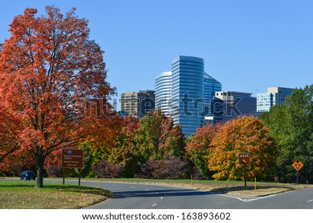 Washington DC, Rosslyn in Autumn - United States  - stock photo