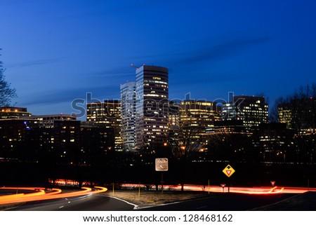 Washington DC - Skyscrapers in Rosslyn - stock photo