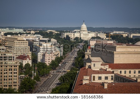 Washington dc streets - stock photo