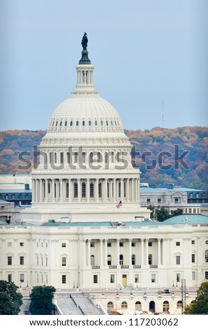 Washington DC - United States Capitol Building - stock photo