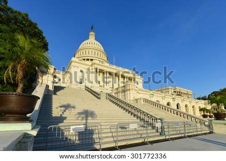 Washington DC - United States Capitol Building - stock photo