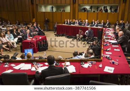 WASHINGTON, DC, USA - JANUARY 10, 2006: Judge Samuel A. Alito Jr., U.S. Supreme Court nominee, during confirmation hearings before the Senate Judiciary Committee. - stock photo