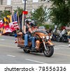 WASHINGTON, DC, USA - MAY 29: Motorcycles travel down Constitution Avenue as part of the annual Rolling Thunder motorcycle ride for American POWs and MIA soldiers. May 29, 2011 in Washington, DC, USA - stock photo