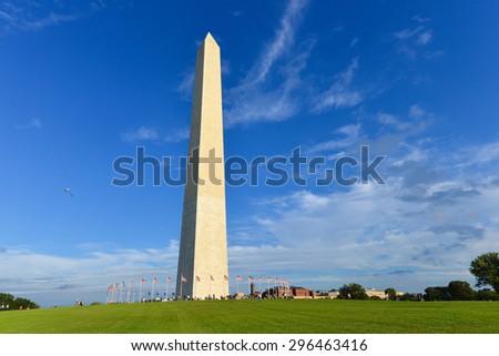 Washington DC - Washington Monument - stock photo