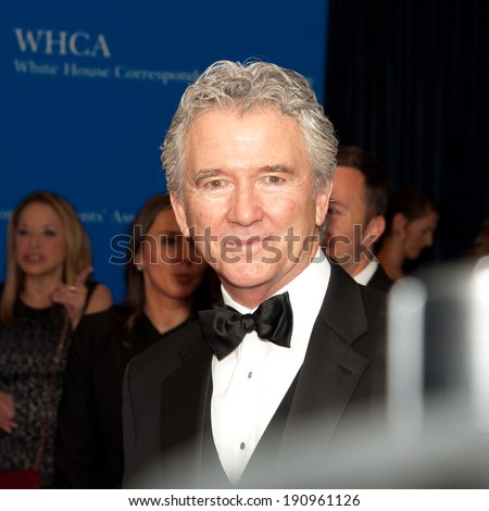 WASHINGTON MAY 3 -�� Actor Patrick Duffy arrives at the White House Correspondents� Association Dinner May 3, 2014 in Washington, DC - stock photo