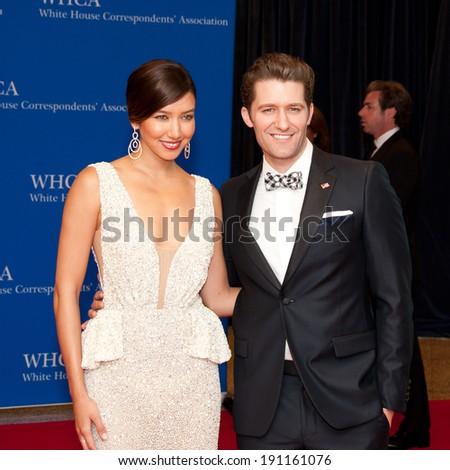 WASHINGTON MAY 3 -�� Matthew Morrison arrives at the White House Correspondents� Association Dinner May 3, 2014 in Washington, DC - stock photo