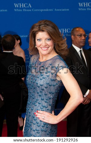 WASHINGTON MAY 3 -Â?Â? Norah O'Donnell arrives at the White House Correspondents'Â?Â? Association Dinner May 3, 2014 in Washington, DC - stock photo
