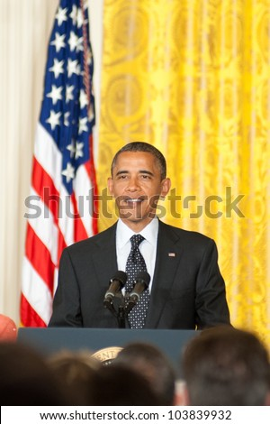 WASHINGTON - MAY 29: President Barack Obama speaks at the Presidential Medal of Freedom ceremony at the White House May 29, 2012 in Washington, D.C.