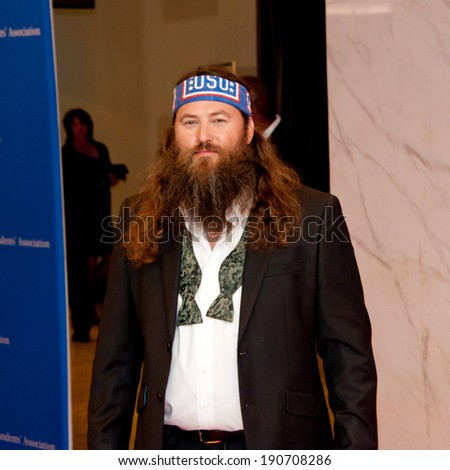 WASHINGTON MAY 3 � Willie Robertson arrives at the White House Correspondents� Association Dinner May 3, 2014 in Washington, DC - stock photo