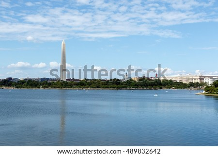 Washington Monument as seen across the Tidal Basin
