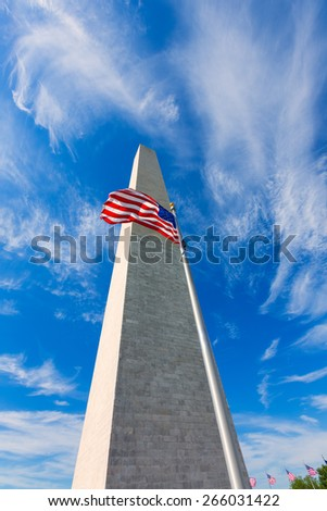 Washington Monument in District of Columbia DC USA - stock photo