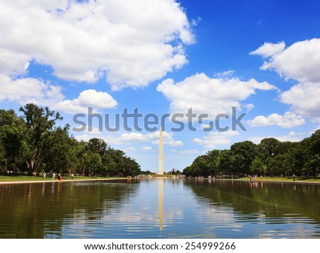 Washington Monument, Washington DC, USA - stock photo