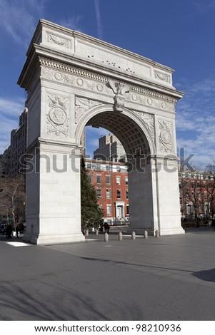 Washington Square Arch on Washington Square, New York City, New York - stock photo