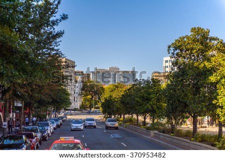 WASHINGTON, USA - SEP 24, 2015: Architecture of Washington DC.  Washington is the capital of the United States