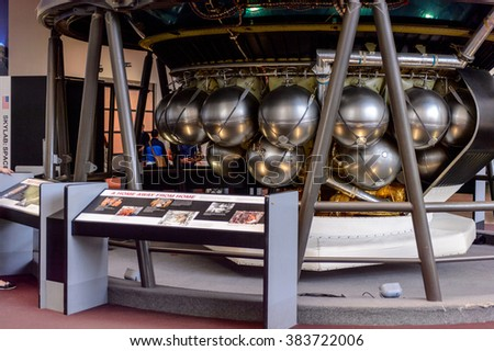WASHINGTON, USA - SEP 24, 2015: National Air and Space Museum (NASM). It was established in 1946 as the National Air Museum