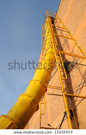 Waste chute used in construction demolition - stock photo