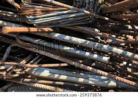 Waste iron metals rusted. - stock photo