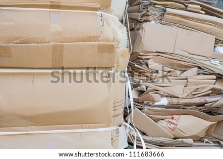 waste management commercial recycling waste paper  - stock photo