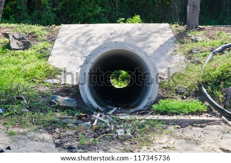 Waste pipe - stock photo