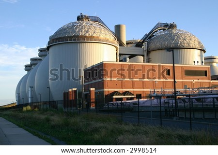 waste processing facility exterior