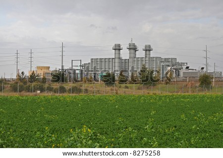 Waste processing facility on an overcast day, Milpitas, California