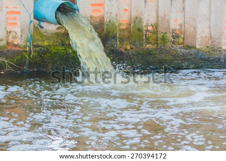 Waste water pond. - stock photo