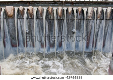 Waste water treatment details closeup - stock photo